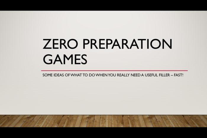 ZeroPreparationGames